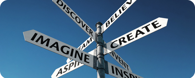 Imagine, create, discover, believe, aspire...